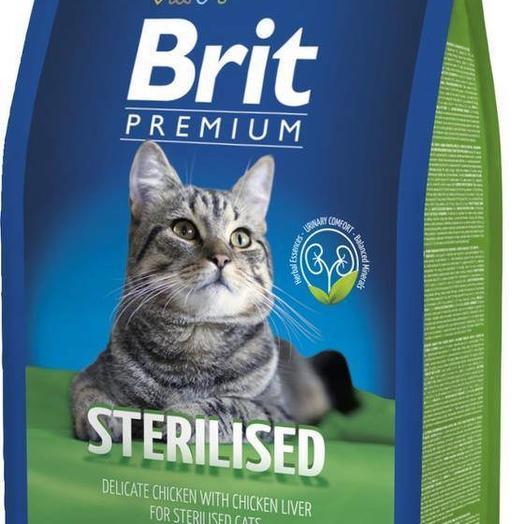 Brit Premium Cat Sterilised сухой корм для стерилизованных кошек (курица и куриная печень) 300г