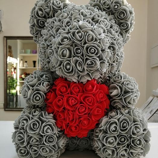 Фоамирановый медведь из роз