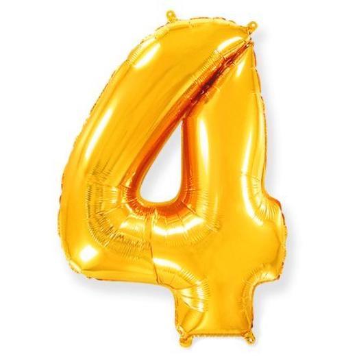 Шар Цифра 4 Золото