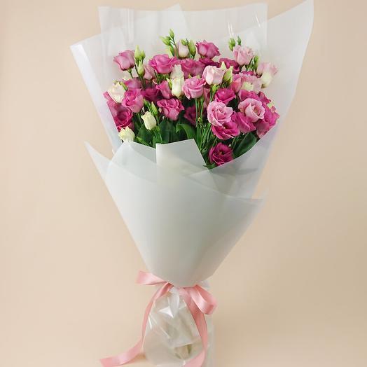Монобукет из розовых голландских эустом (100)