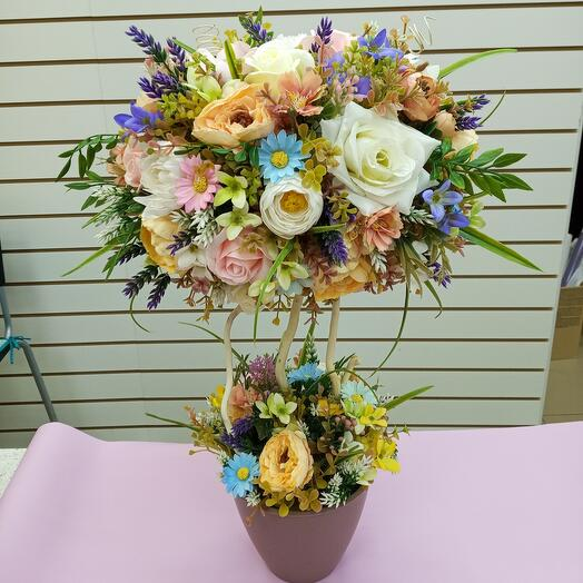 Composition of artificial flowers