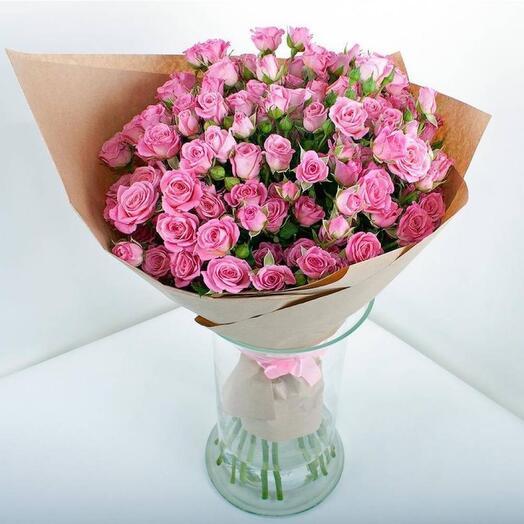 """Букет из 15 кустовых роз """"Молли"""""""