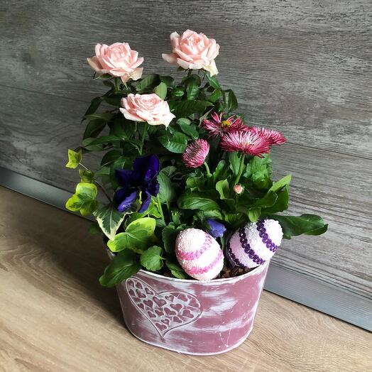 Композиция с садовыми розами