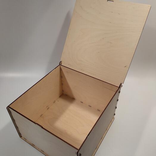 Коробка с крышкой 35x25x35см коробка из фанеры, коробка для хранения, коробка для подарка