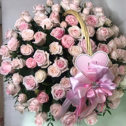 Нежная корзиночка С цветами *для Марии*