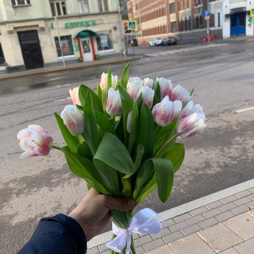 Букет из 15 тюльпанов 😍😍