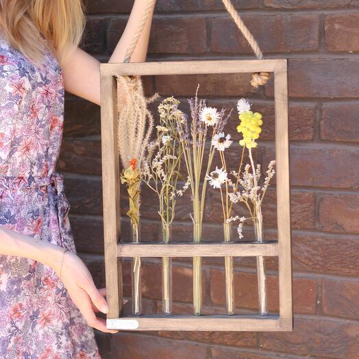 Рамка с сухоцветами