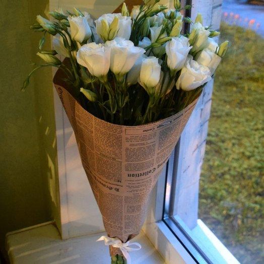 Букет из эустомы: букеты цветов на заказ Flowwow