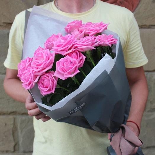 Розовые розы Аква: букеты цветов на заказ Flowwow