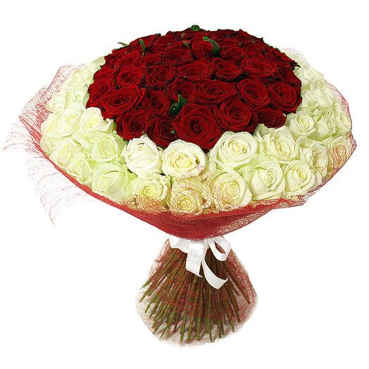 "Букет ""Совершенство"" 101 роза 50 см: букеты цветов на заказ Flowwow"