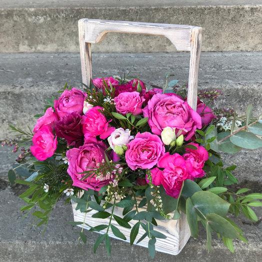 Ящик Винтаж: букеты цветов на заказ Flowwow