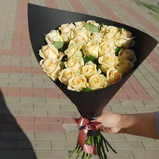 Букет 21 роза ПичАваланж: букеты цветов на заказ Flowwow