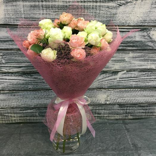 Букет «Нежность» из 11 кустовых роз: букеты цветов на заказ Flowwow
