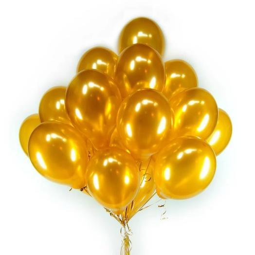 Золотой букет шаров