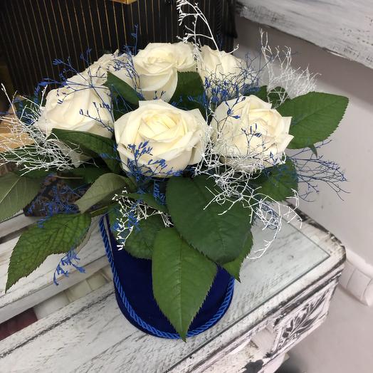 Синий бархат: букеты цветов на заказ Flowwow