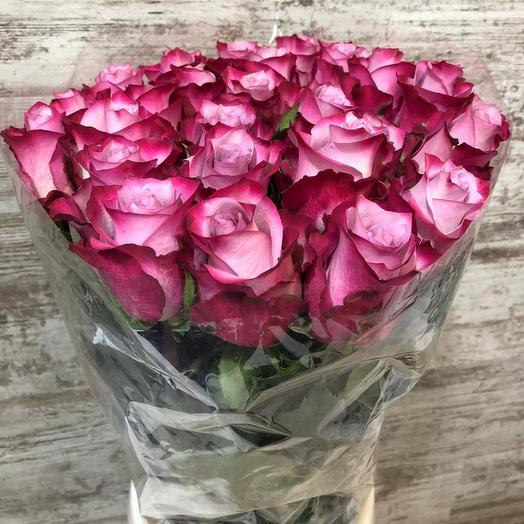 Розы Эквадор 70 см 25 штук: букеты цветов на заказ Flowwow