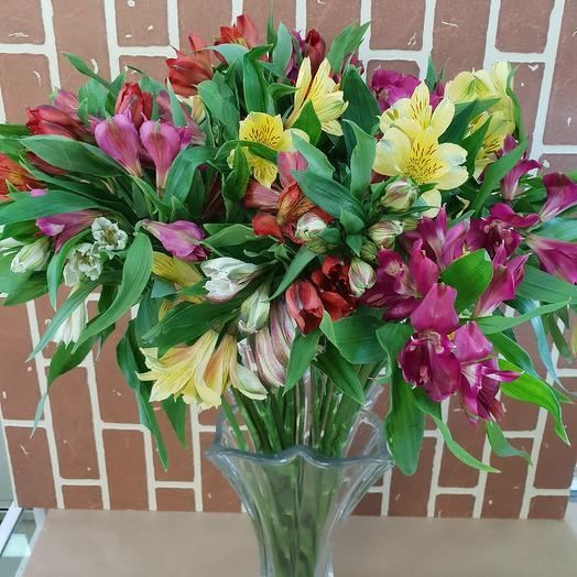 Ассорти из альстромерии: букеты цветов на заказ Flowwow