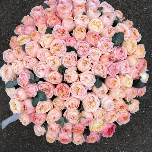 Коробка с пионовидной: букеты цветов на заказ Flowwow