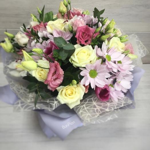 """Букет """"Майский день"""" с эвкалипта: букеты цветов на заказ Flowwow"""