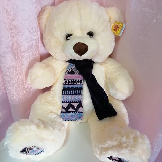 Мягкая игрушка Мишка с шарфом: букеты цветов на заказ Flowwow