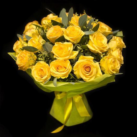 Желтые розы: букеты цветов на заказ Flowwow