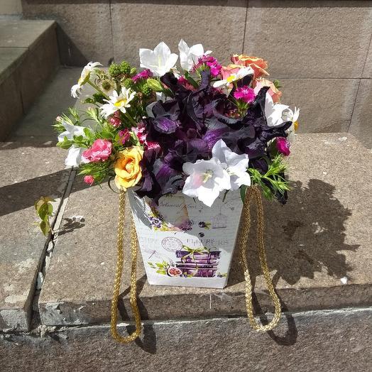 Чернильное сердце: букеты цветов на заказ Flowwow