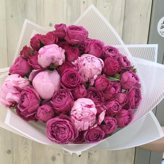 Малиновый рай: букеты цветов на заказ Flowwow