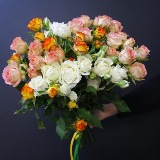 Микс спрей роз: букеты цветов на заказ Flowwow