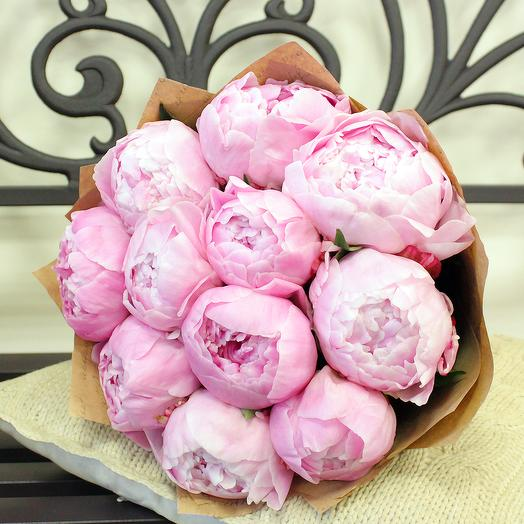 """The bouquet of Peonies"""" 11 PCs.: flowers to order Flowwow"""