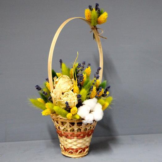 "Композиция из сухоцветов ""Колибри"": букеты цветов на заказ Flowwow"
