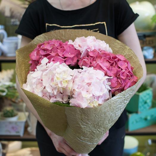 Букет из гортензий (5 гортензий): букеты цветов на заказ Flowwow