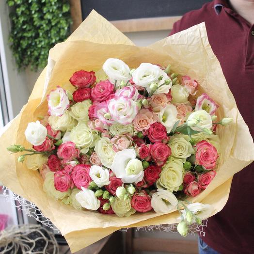Объемный букет «Sevilla»: букеты цветов на заказ Flowwow