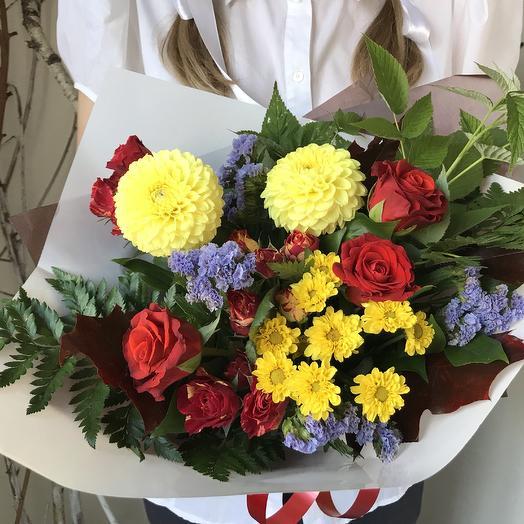 Первоклассный букет 16: букеты цветов на заказ Flowwow
