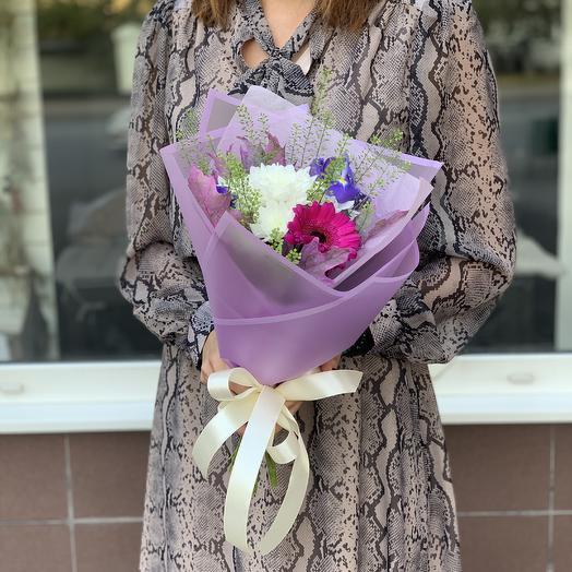 Букет комплимент лиловый: букеты цветов на заказ Flowwow