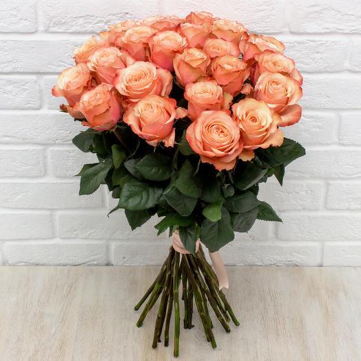 """25 пионовидных роз """"Кахала"""""""