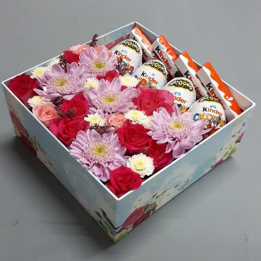 "Коробка ""СЮРПРИЗ"": букеты цветов на заказ Flowwow"