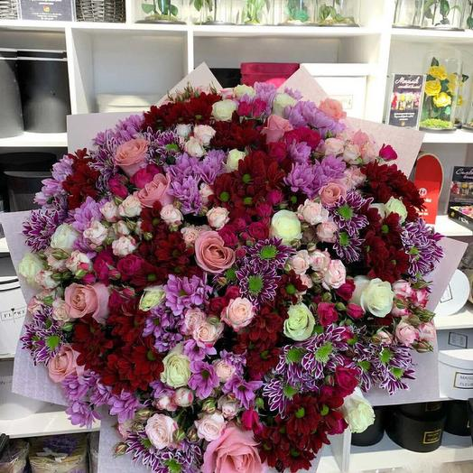 Взрыв чувств: букеты цветов на заказ Flowwow