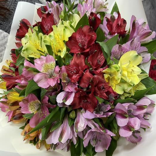 15 альстромерий микс: букеты цветов на заказ Flowwow