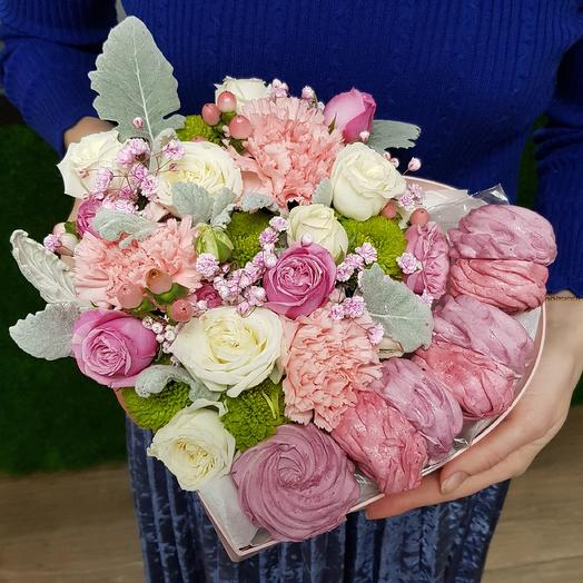 Зефирное сердце: букеты цветов на заказ Flowwow