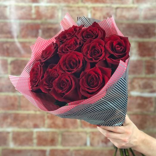 11 роз Explorer: букеты цветов на заказ Flowwow