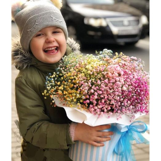 Радуга из гипсофилы: букеты цветов на заказ Flowwow