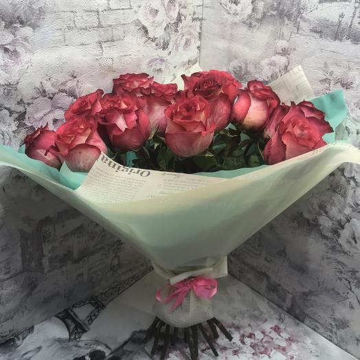 Букет 17 эквадорских роз: букеты цветов на заказ Flowwow