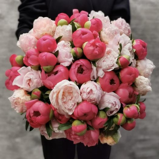 Роскошный букет пионов: букеты цветов на заказ Flowwow