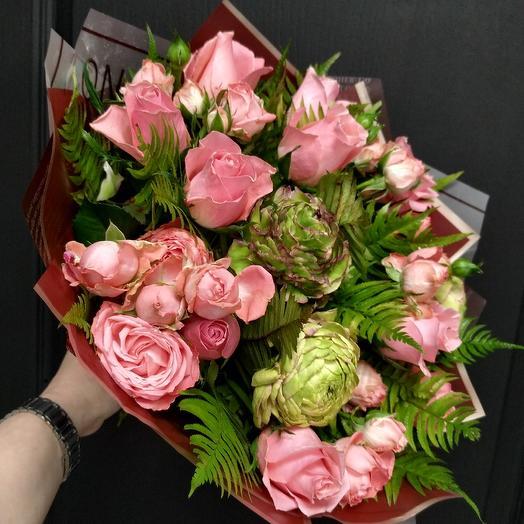 Розовый сад: букеты цветов на заказ Flowwow