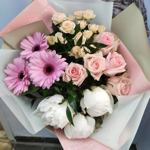 Прикосновение нежности: букеты цветов на заказ Flowwow