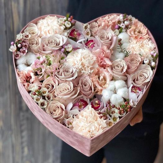 Красивая коробка «Сердце»