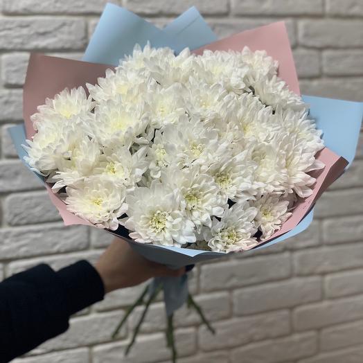 Букет из хризантем «Снежок»