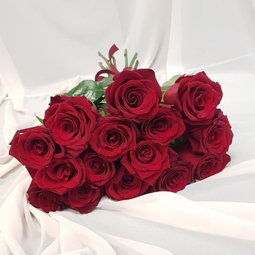 15 red roses 80 cm