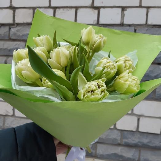 «Букет дня» из 15 пионовидных тюльпанов