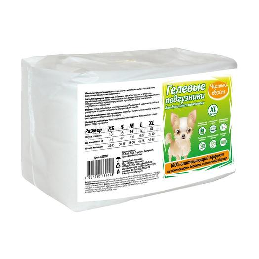 Чистый хвост Подгузники для собак от 4 до 7 кг 16 шт